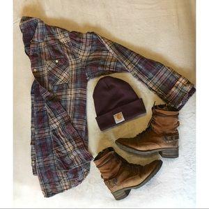 Worn in flannel